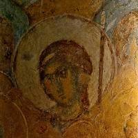 Ангел — Западный свод центрального нефа. Южный склон.  Изображение 1.