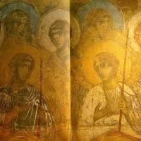 Ангелы — Западный свод центрального нефа. Южный склон.