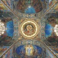 Потолок храма Спаса на Крови в Санкт-Петербурге (общий вид)