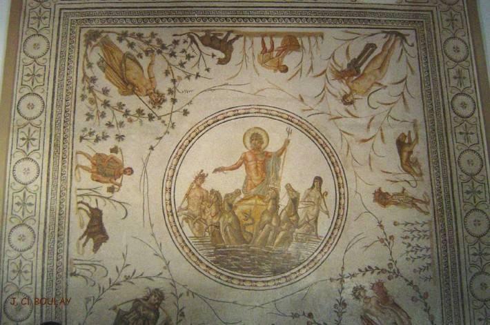 Мозаика с изображением Нептуна в Национального музея Бардо