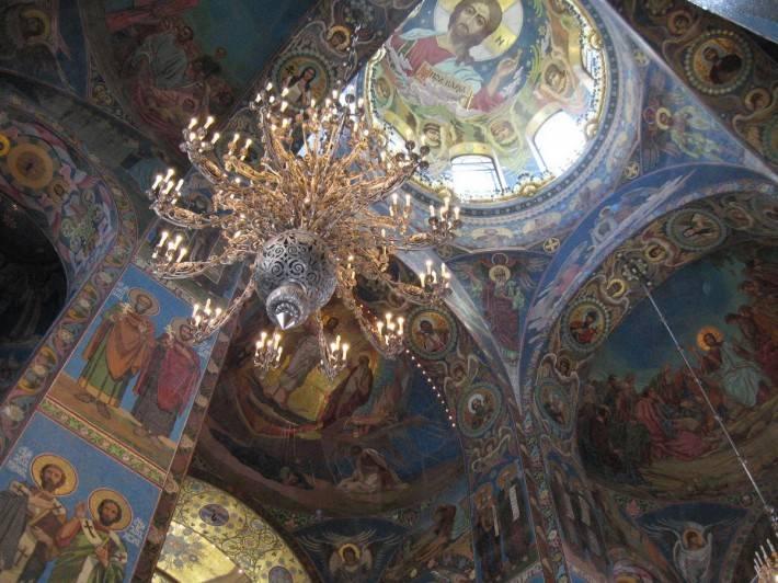 Потолок храма Спаса на Крови в Санкт-Петербурге (фото 3)