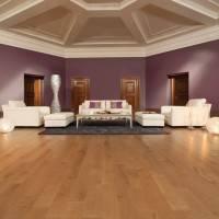Фигурный потолок из гипрока в большой комнате
