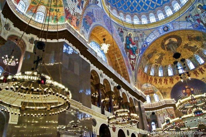Потолки и декор Морского Никольского собора — фото 28