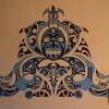 Фреска по мотивам традиционной полинезийской татуировки