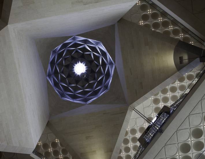 Потолок музея исламского искусства в Дохе, Катар