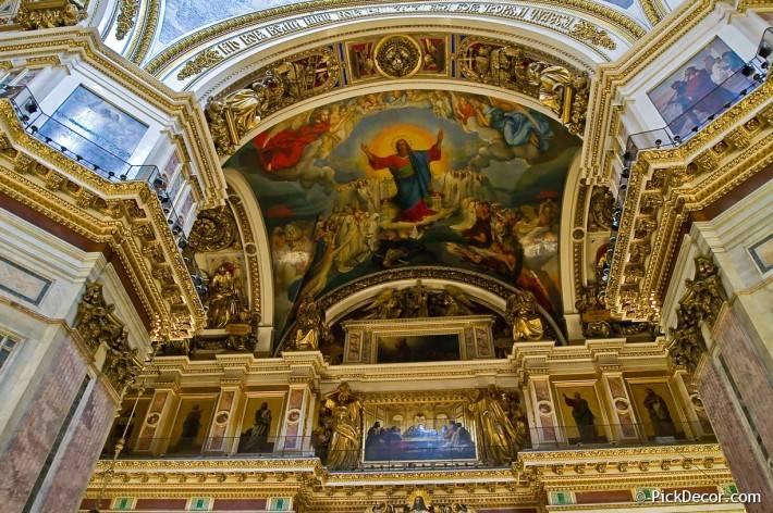Потолки и декор Исаакиевского собора — фото 25