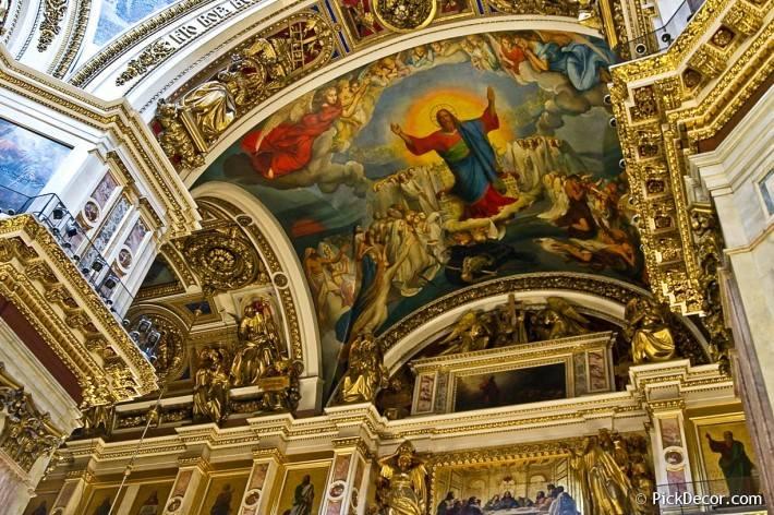 Потолки и декор Исаакиевского собора — фото 69