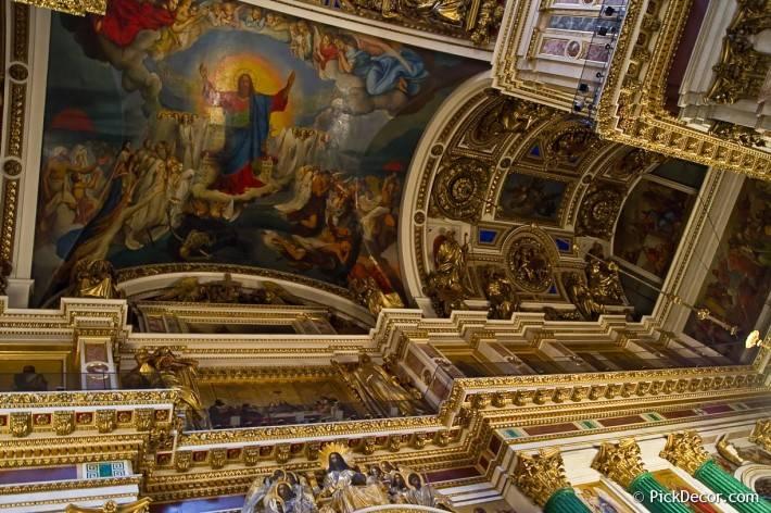Потолки и декор Исаакиевского собора — фото 53