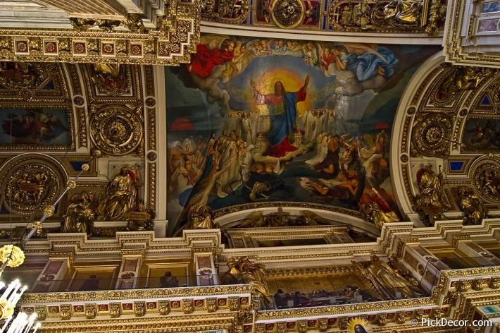 Потолки и декор Исаакиевского собора — фото 32