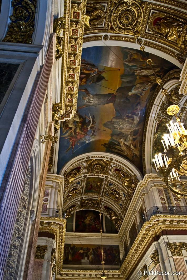 Потолки и декор Исаакиевского собора — фото 6