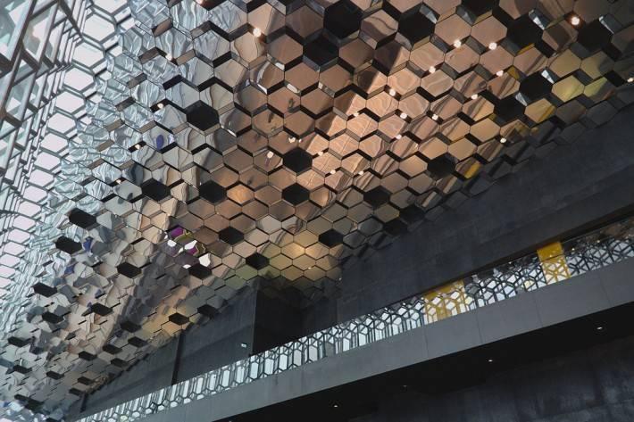 Потолок в конгресс-центре и концертном зале Харпа — фото 4