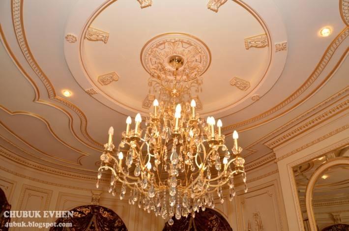 Лепной декор и роспись на потолке в частном доме — фото 2