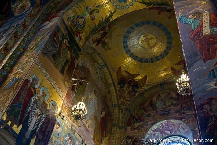 Потолки и декор храма Спас на Крови — фото 53