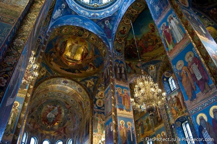 Потолки и декор храма Спас на Крови — фото 4