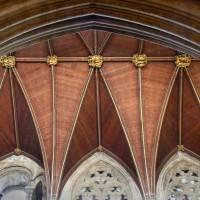 Деревянный потолок в Кафедральном соборе Рипон — фото 2