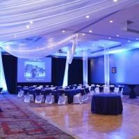 Crowne Plaza — потолок декорированный тканью — фото 2