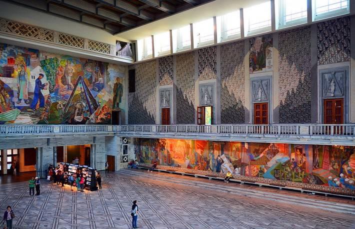 Фреска на потолке в ратуше Осло — фото 3