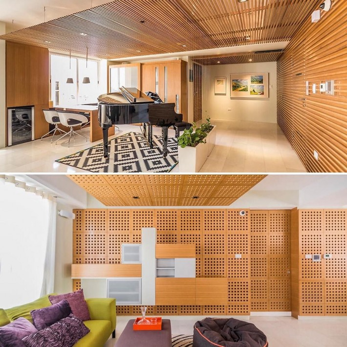 Деревянный потолок в апартаментах Гранд Европа