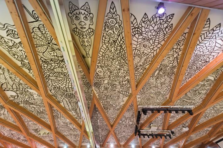 Фреска на потолке отеля Eroplán — фото 2