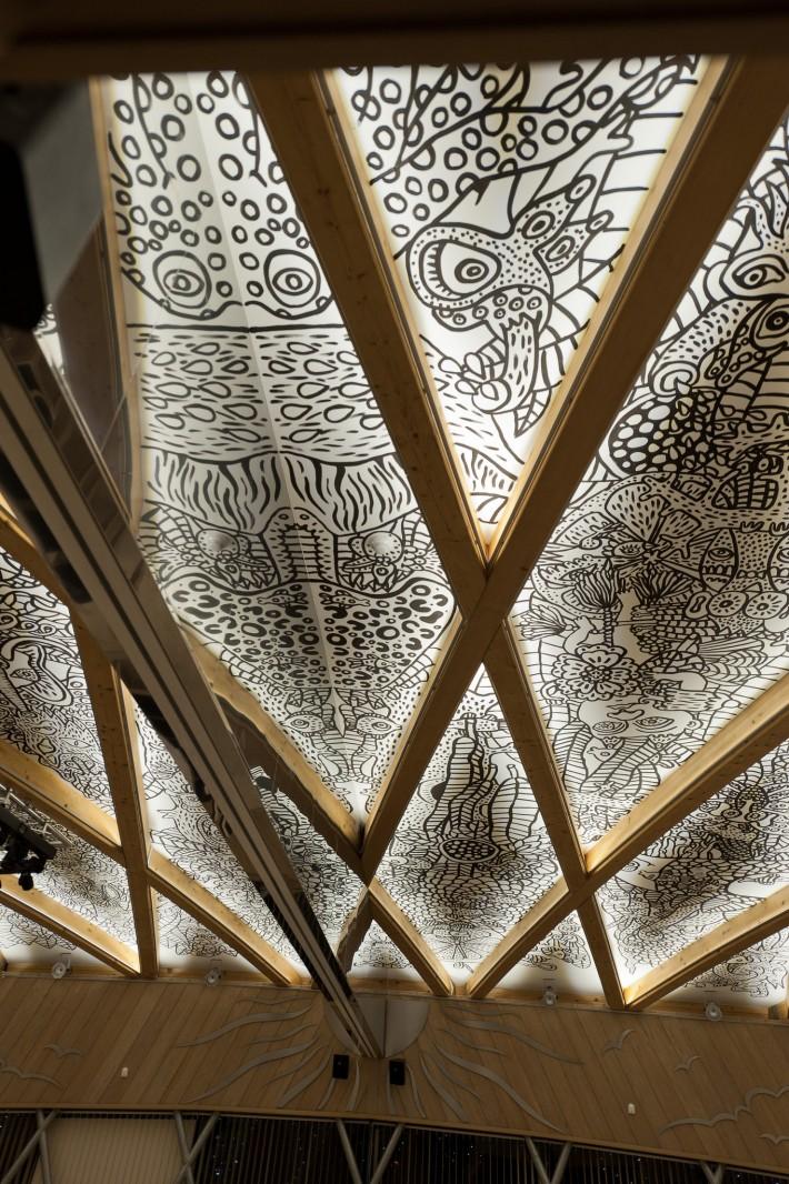 Фреска на потолке отеля Eroplán — фото 4