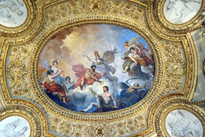Фото отделки потолка в Лувре — фото 34
