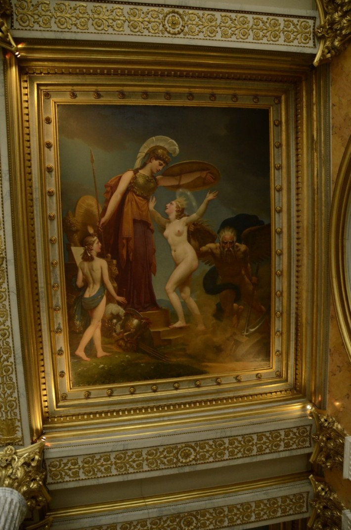 Фото росписи потолка в Лувре — фото 14