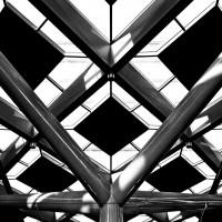 Стеклянная крыша центральной ж/д станции Гааги