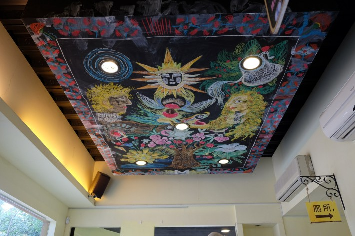Роспись потолка в одном из китайских кафе