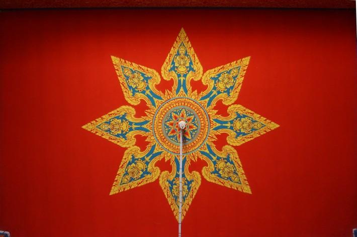 Роспись потолка в буддийском храме в Тайланде — фото 2