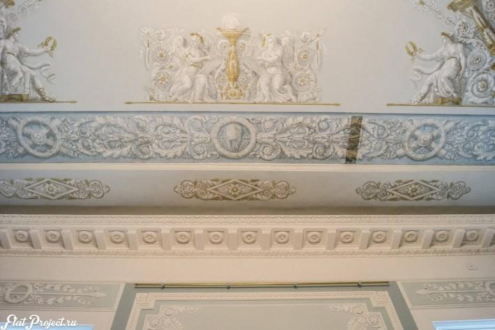 Потолки и декор в здании Главного штаба — фото 68