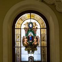 Витраж в холле Союза Художников в Петербурге