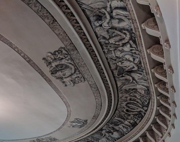 Роспись на потолок лестницы Главного штаба — фото 2