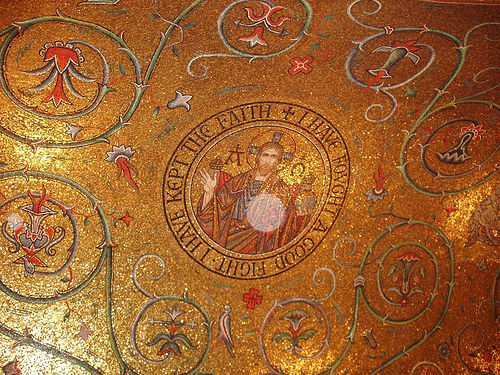 Фото мозаичного потолка в кафедральной базилике Сент-Луиса