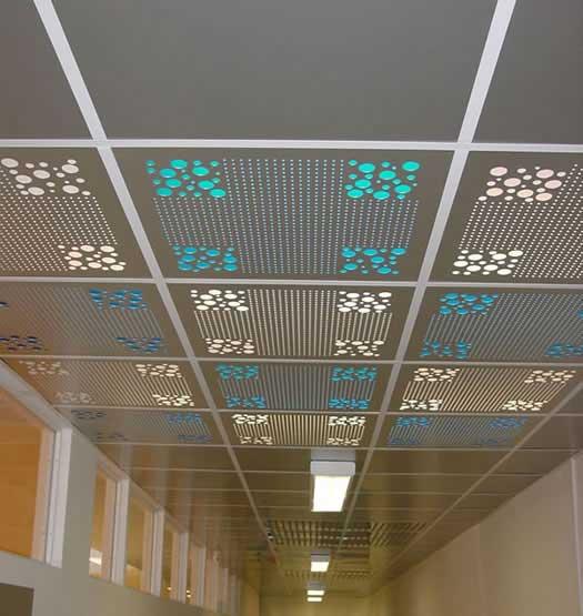 Металлический потолок — фото 21