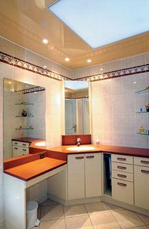 Натяжной потолок в ванной — фото 7