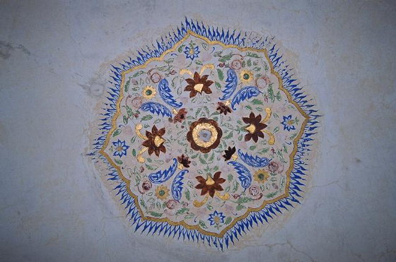 Роспись на потолке форта Амбер в Джайпуре