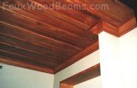 Деревянный потолок — фото 117
