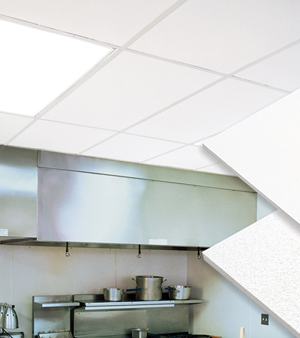 Подвесной потолок в кухне — фото 4