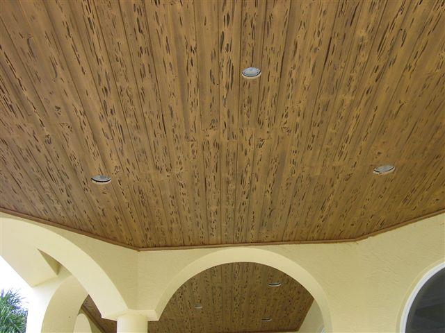 Деревянный потолок — фото 123