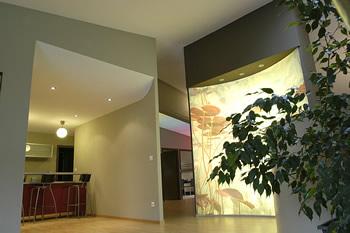 Потолок и стены в виде из гипрока на кухне