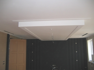 Выпуклая ниша в потолке из гипрока