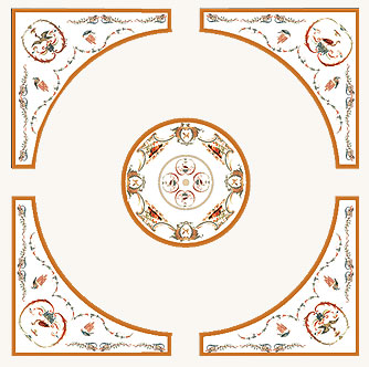 Фрески (роспись стен и потолка) — Белый букет