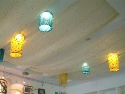 Комбинированный гипсокартоновый потолок