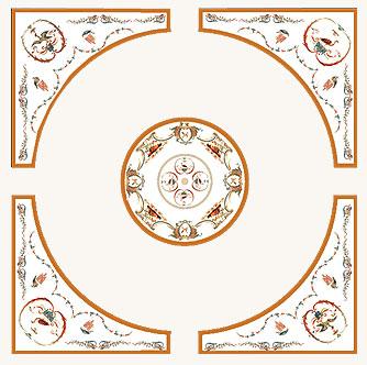 Фрески (роспись стен и потолка) — Кремовый букет