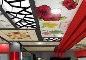 Росписной потолок в китайском стиле
