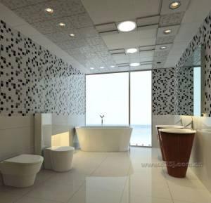 Подвесной потолок в ванной — фото 1