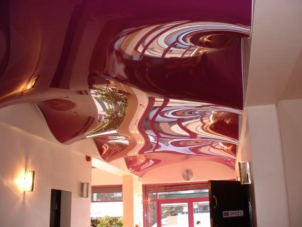 фигурные натяжные потолки фото