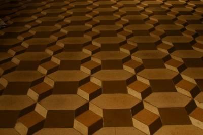 Пол из керамической плитки — фото 137