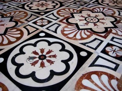 Пол из керамической плитки — фото 127