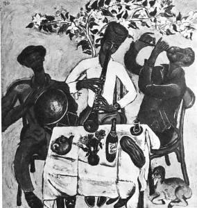 Т. Нариманбеков. Музыканты. 1970 Холст, темпера